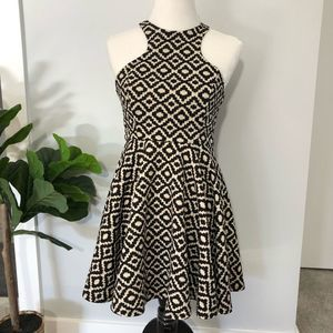 Alter'd State Tan Black Patterned Sleeveless Dress